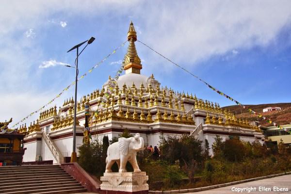 Nangchen town Buddha stupa