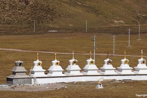 Nangchen landscape stupas
