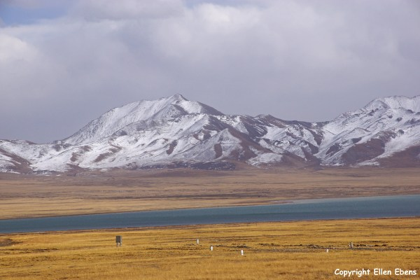 Amdo landscape snow lake