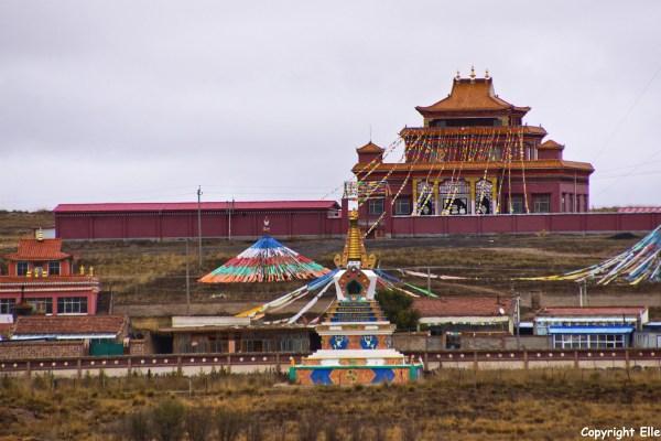 Amdo monastery landscape