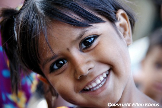 Wonderful smile of a little girl