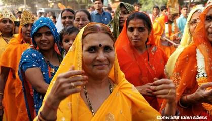 Women in a religious procession