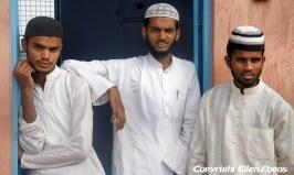 Students at the Taj-ul-Masjid Mosque in Bhopal