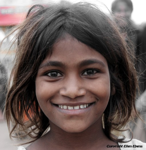 Girl at the city Ujjain