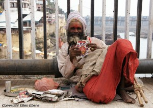 Sadhu in the holy city Omkareshwar