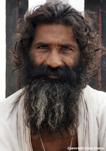 Man in the holy city Omkareshwar