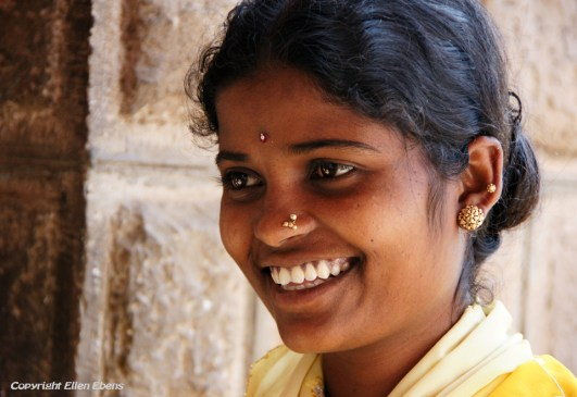 Young woman at the city of Bijapur