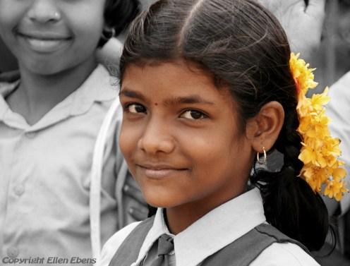 Schoolgirl at the village of Badami