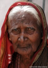 Old lady at the village of Badami