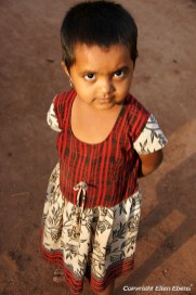 Little girl at the village of Badami