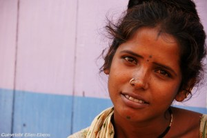 Young woman in the town of Gokarna