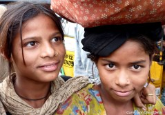 Girls in the city of Hyderabad