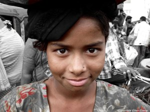 Girl in the city of Hyderabad