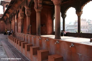 Place for washing hands and feet for the believers, Jama Mashid Mosque, Delhi