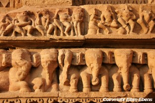 Detail of the Hindu temple at Gwalior Fort, Gwalior