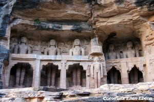 Jain Temple with rock sculptures of Gwalior Fort