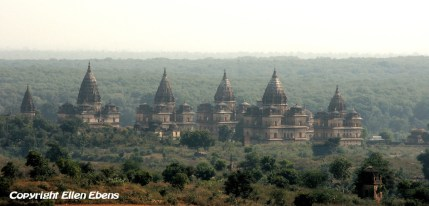 The chhatris (cenotaphs) of Orccha