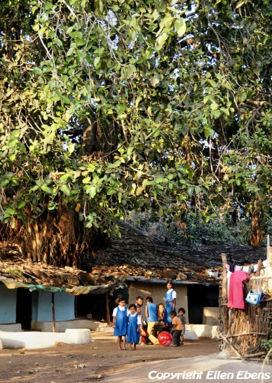 Children in school uniform at Pachmarhi National Park