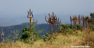 Shiva shrine at Chauragarh, Madhya Pradesh's third-highest peak (1308m), Pachmarhi National Park