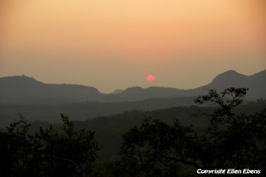 The sun going down at Pachmarhi National Park