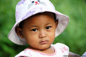 A baby girl somewhere along the way to Kalaw