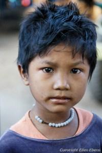Young boy at the caves of Hpo Win Daung near Monywa