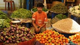 Street vendor in the city of Bijapur