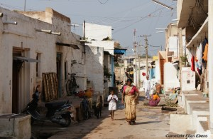 A street in the little town of Badami