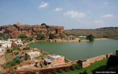 View from the cave temples over the little town of Badami
