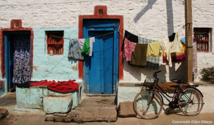 The door of a house in Badami