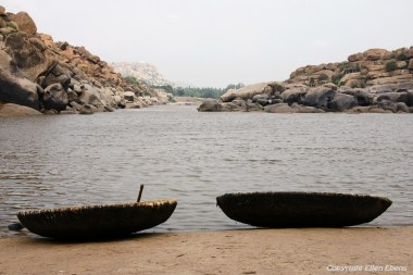 The little, local boats of Hampi
