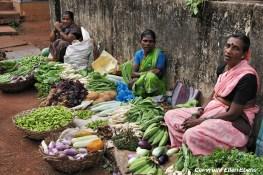 Street vendors in the beach town Gokarna