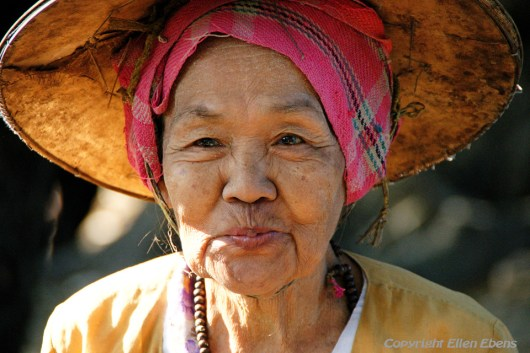 A traditional woman at the city of Pyay