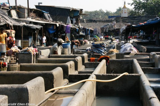 Dhobi Ghat, a well known open air laundromat in Mumbai