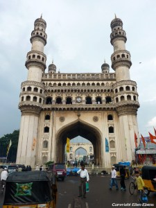 The Charminar in the city of Hyderabad