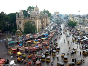 View from the Charminar, Hyderabad