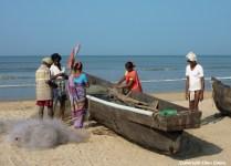Fishermen at the beach of Gokarna