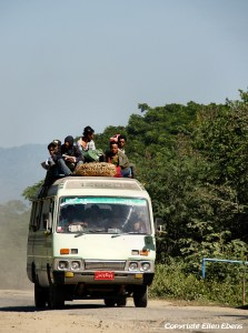 On road to the city of Mandalay