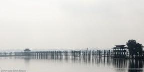 Amarapura, the famous U Bein Bridge in the morning