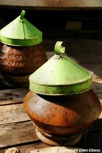 Amarapura, water pitchers at the Mahagandayon Kyaung Monastery