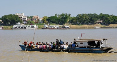 Crossing the river at Monywa