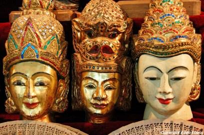 Mandalay, merchandise at a shop at the entrance of the Mahamuni Pagoda