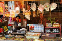 On the road from Bagan to Pyay, a street shop in a little city