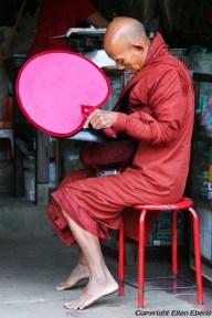 Pathein, begging monk