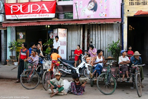 Pathein, street life