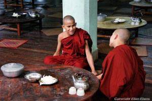 Bago, monks at the Kha Khat Wain Monastery