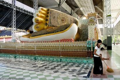 Bago, reclining Buddha at the Shwethalyaung Pagoda