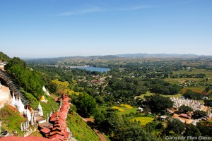 View from Pindaya Cave, wich contains over 8,000 images of Buddha