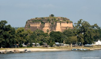 Mingun, view from the river at the unfinished Mingun Pagoda