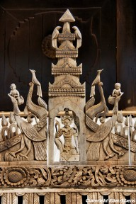 Bagan, the teak wood Myoe Daung Monastery at Leya Village
